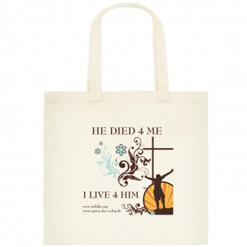 "Stofftasche 004 ""HE DIED 4 ME"""