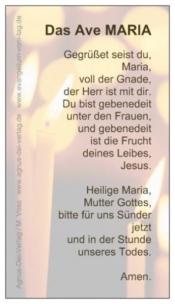 Ave Maria Text Deutsch Gebet